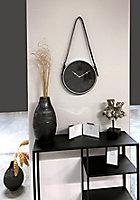 Horloge lanière noire et argentée Ø 305cm