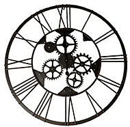 Horloge noire ⌀ 80 cm