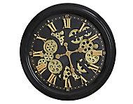 Horloge noire et dorée Ø 52 cm