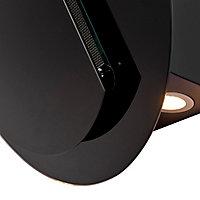 Hotte inclinée ronde en verre Cooke & Lewis CLRGB60, 60 cm