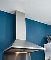 Hotte trapèze Cooke & Lewis CLCH60 inox, 60 cm