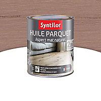 Huile parquet 2 en 1 Syntilor Gris métal 1L