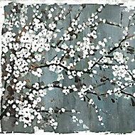 Huile sur toile Fleurs 100 x 70 cm