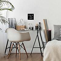 Image encadrée La vie est belle noir et blanc 30 x 30 cm