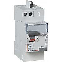 Interrupteur différentiel automatique DX3 30 mA-40A Type A Legrand