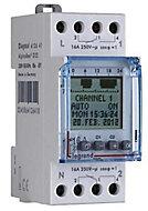 Interrupteur horaire jour/hebdo 2 voies numérique Legrand