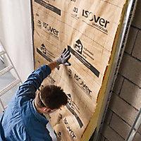 Isolant laine de verre GR32 Kraft - 2,7 x 1,2 m ép.120mm R. 3,75m²K/W (vendu au rouleau)