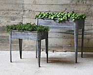 Jardinière zinc gris H53