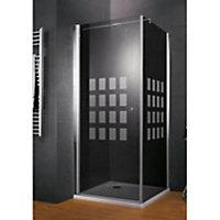 Jeu de porte de douche + paroi Cubic Anthra 80 cm