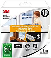 Joint adhésif porte et fenêtre mauvais état 3M Premium 2 à 4,5 mm blanc L.6 m