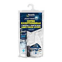 Joint Parfait Salle de bain translucide 280ml + Spray + Lampe Offerte