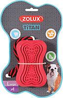 Jouet pour chien caoutchouc avec corde Titan L rouge