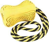 Jouet pour chien caoutchouc avec corde Titan S jaune