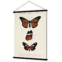 Kakémono/ toile imprimée Papillons 68 x 93 cm