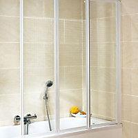 Kit à coller écran de baignoire blanc