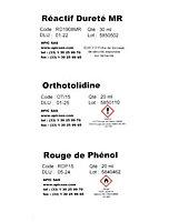Kit d'analyses d'eau TH, PH, Nitrate, Chlore