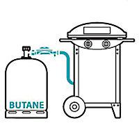 Kit d'installation gaz barbecue bouteille butane 13kg avec indicateur de niveau