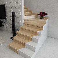 Kit plinthe escalier chêne brut pour kit de rénovation