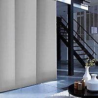 Kit rail et panneau japonais Madeco gris 115 x 250 cm
