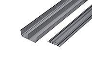 Kit rails laqué gris 120 cm