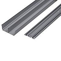 Kit rails laqué gris 150 cm