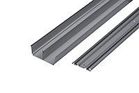 Kit rails laqué gris 180 cm