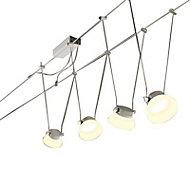 Kit spot sur câble Paulmann Glas led chromé mat
