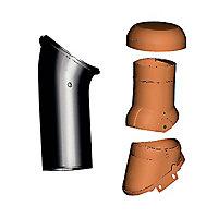 Kit ventilation active/Durovent ø150 Perspective brun