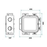 Kit VMC simple flux hygroréglable Aldes Easyhome Compact classic + 2 gaines 6m ø80mm et 1 gaine 6m x ø125mm offertes