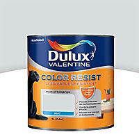 La peinture murs et boiseries Dulux Valentine Color resist blanc argent aspect mat de 1