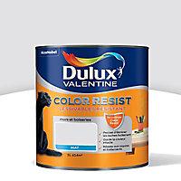 La Peinture murs et boiseries Dulux Valentine Color resist roc blanc aspect mat de 1L