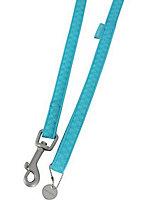 Laisse Mc Leather 10mm L.1,2 m turquoise