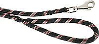 Laisse nylon corde 13mm L.1,20 m noir