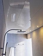 Lambris pvc Colours blanc brillant Long.4 m (vendu à la botte)