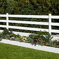 Lame de clôture PVC droite L.240 x H.12 cm ep.30 mm