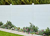 Lame de clôture PVC emboîtable L.180 x H.20 cm ep.30 mm