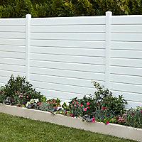 Lame de clôture PVC persienne L.180 x H.14 cm ep.30 mm