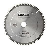 Lame de scie circulaire Bois Erbauer Ø254 x30/25/20/16 coupe fine 80 dents