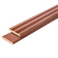 Lame de terrasse bois marron Taran L.250 x l.14,5 cm