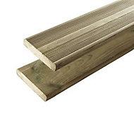 Lame de terrasse bois vert L.390 x l.14,5 cm