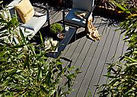 Lame de terrasse composite anthracite Neva L.300 x l.14,5 cm