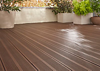 Lame de terrasse composite brun Blooma Neva L.220 x l.14,5 cm
