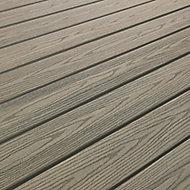 Lame de terrasse composite gris Good Life 244 x 13,4 cm