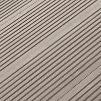 Lame de terrasse composite taupe Neva L.220 x l.14,5 cm