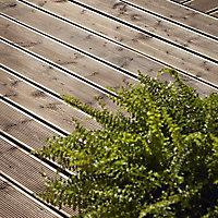 Lame de terrasse épicéa marron Blooma Madeira L.240 x l.12 cm