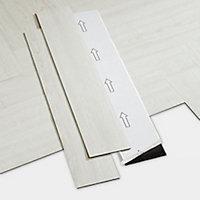 Lame PVC adhésive blanc Poprock 10 x 60cm (vendue au carton)