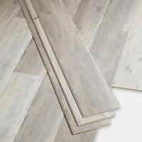 Lame PVC clipsable gris blanc Bachata 15 x 122cm (vendue au carton)