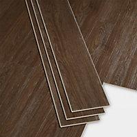 Lame PVC clipsable marron Bachata 15 x 122cm (vendue au carton)