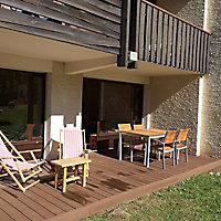 Lame terrasse composite Greendeck WPC PLEINE chocolat L.260 x l.14 cm