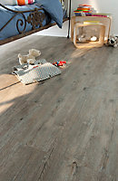 Lame vinyle Senso Rustic BD Pecan décor bois naturel l. 15,2 x L. 91,4 cm, Ep. 2 mm(vendue au carton)